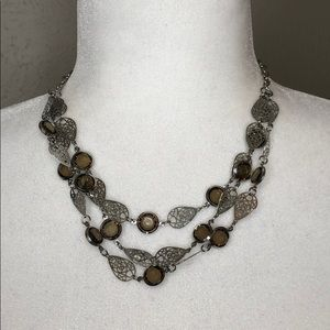 Daisy Fuentes jewelry silver statement necklace